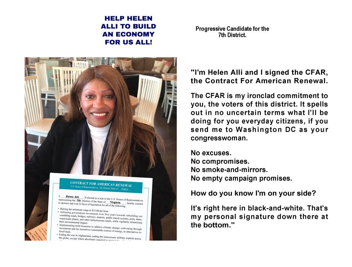 Helen Alli I Signed The CFAR
